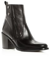 Belstaff Woman's Dursley Leather Block Heel Booties