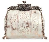 Patricia Nash White Copper Overdye Carmonita Leather Frame Bag
