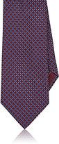 Brioni Men's Tessellated-Star Necktie-BURGUNDY