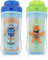 Dr Browns Dr. Brown's Spoutless Insulated Cup, 10 oz (12m+), Robot and Monster Blue/Green, 2 Count by Dr. Brown's