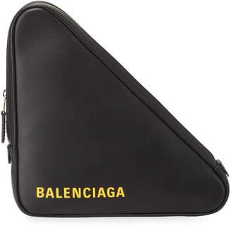 Balenciaga Triangle Leather Clutch Bag
