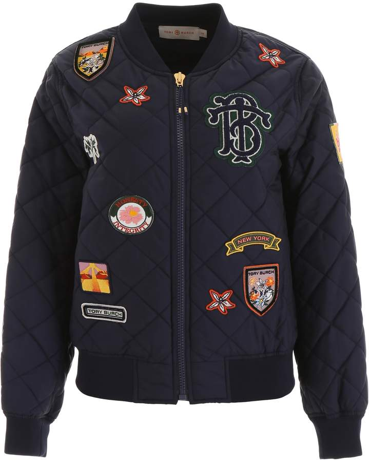 3778ff275 Bomber Jacket With Patches