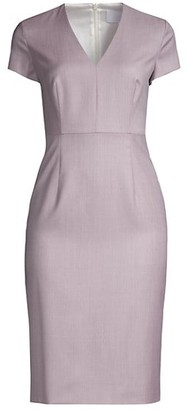 HUGO BOSS Danati Superstretch Virgin Wool Dress