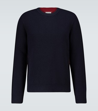 Maison Margiela Bicolor knitted crewneck sweater
