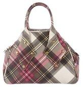 Vivienne Westwood Derby Plaid Handle Bag
