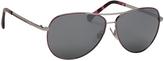 Ralph Lauren Berry & Silver Flash Aviator Sunglasses