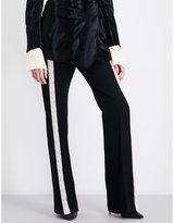 Ann Demeulemeester Mustang wide-leg wool-blend trousers
