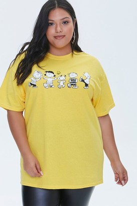 Forever 21 Plus Size Peanuts Graphic Tee