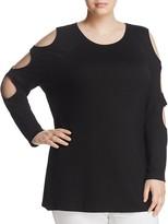 Alison Andrews Plus Cutout Sleeve Top
