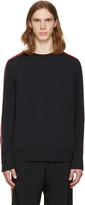 MSGM Black Arm Stripes Sweatshirt