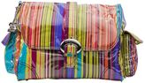 Kalencom Striped Laminated Buckle Diaper Bag