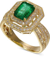 Effy Brasilica by Emerald (1-3/8 ct. t.w.) and Diamond (3/8 ct. t.w.) Ring in 14k Gold
