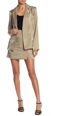 Do & Be Do + Be Metallic Mini Skirt