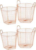 Amalfi by Rangoni Mira Wire Basket, Copper (Set of 4)