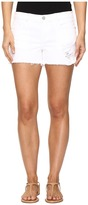 Blank NYC Distressed White Shorts in White Lines Women's Shorts