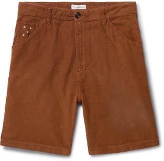 Pop Trading Company Wide-Leg Cotton-Corduroy Shorts