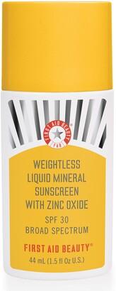 First Aid Beauty Weightless Liquid Mineral Sunscreen SPF 30
