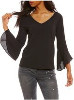 Moa Moa Bell Sleeve T-Back Top