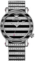 Juicy Couture Women's Quartz Watch with Black Dial Analogue Display and Black Stainless Steel Bracelet 1901210