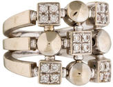 Bvlgari Three Row Lucia Diamond Ring
