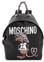 Moschino Rat-a-Porter Logo Backpack, Black