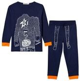 Billybandit Blue and Neon Yeti Print Pyjamas