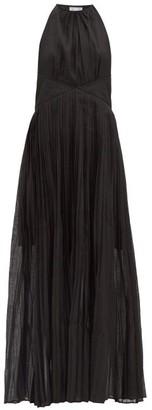 Thierry Colson Vanessa Halterneck Cotton-blend Maxi Dress - Black
