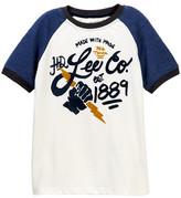 Lee Raglan Short Sleeve Ringer Tee (Big Boys)