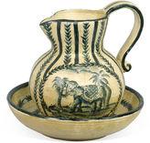 AA Importing Elephant Bowl & Pitcher, Cream