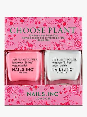 Nails Inc Choose Plant Nail Polish Duo, 2 x 14ml
