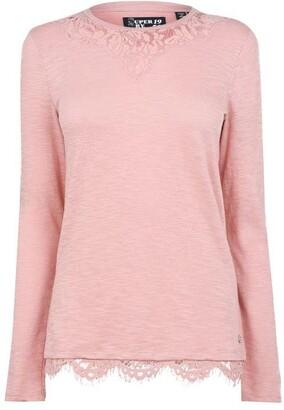 Superdry Ellis Lace Long Sleeve T Shirt