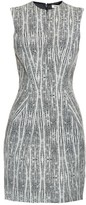L'Agence June abstract-print jacquard dress