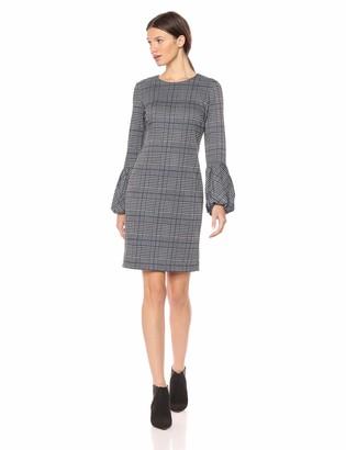 Calvin Klein Women's Long Sheath with Blouson Bell Sleeves