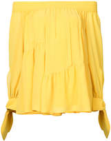 Derek Lam Shirred Off The Shoulder Blouse