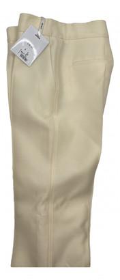 Christian Dior Ecru Wool Trousers