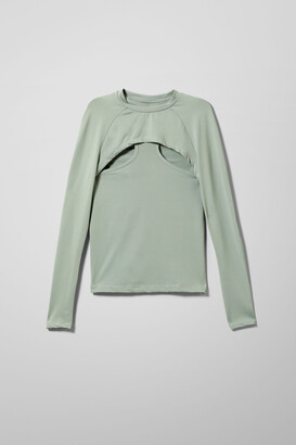 Weekday Shelly Layered Longsleeve - Green