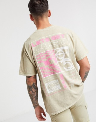 Topman t-shirt with back print in stone