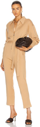 Jonathan Simkhai Annabelle Belted Jumpsuit in Camel | FWRD