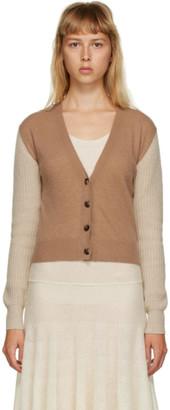 Marni Tan Cashmere Contrast Sleeve Cardigan