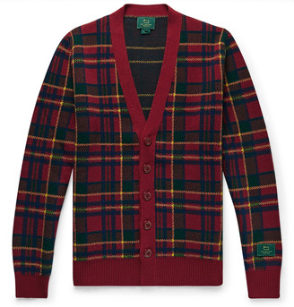 Woolrich + Checked Wool Cardigan