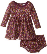 Splendid Littles Printed Modal/Crickle Chiffon Dress (Infant)