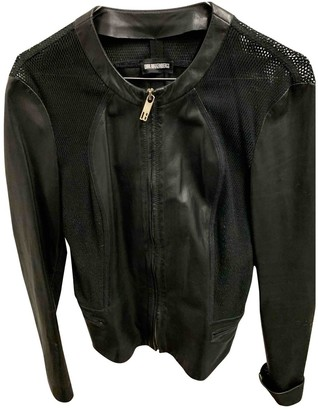 Dirk Bikkembergs Black Leather Jacket for Women