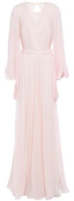 Andrew Gn Pleated Silk-chiffon Gown