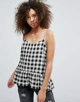 Traffic People Gingham Peplum Top