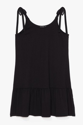 Nasty Gal Womens Just Tie Your Best Relaxed Mini Dress - Black - 6, Black
