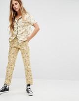 Reclaimed Vintage Luxury Brocade Skinny Pants Co-Ord