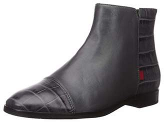 Marc Joseph New York Women's Genuine Leather Made in Brazil Ankle Zip Up Bootie Boot