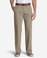 Eddie Bauer Men's Wrinkle-Free Relaxed Fit Flat Front Casual Performance Chino Pants