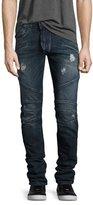 Pierre Balmain Skinny-Fit Distressed Biker Denim Jeans