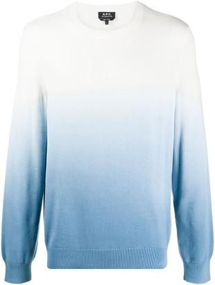 A.P.C. Gradient Effect Sweatshirt